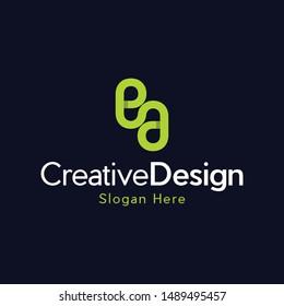 Letter EA Creative Business Modern Logo