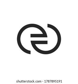 Letter EA logo design template