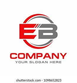 Letter EB initial logo design vector