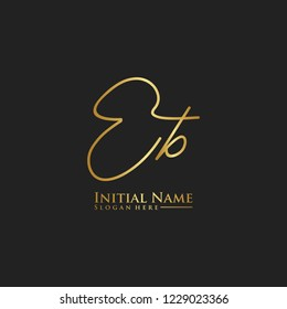 Letter Eb Logo. Initial Letter Design Vector Luxury Colors