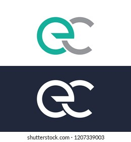Letter EC, Template logo, ...EC logo gradient color