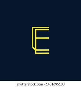 Letter EE Clean and Minimal Initial Based Logo Design