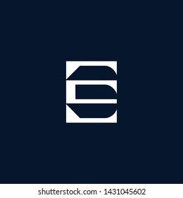 Letter EE ES SE E Clean and Minimal Initial Based Logo Design