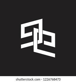 letter ee linked monogram logo vector