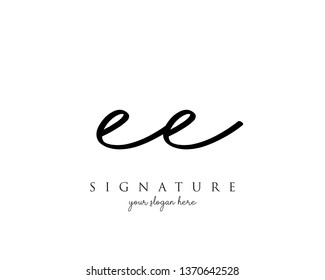 Letter EE Signature Logo - Vector
