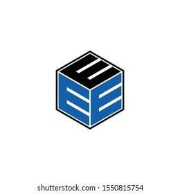 Letter EEE simple hexagon logo icon design vector