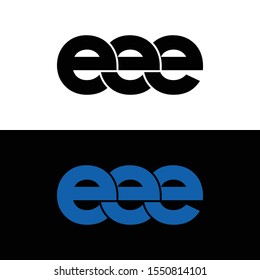 Letter EEE simple logo icon design vector