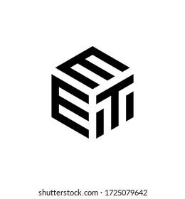 Letter EET logo design icon template