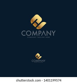 Letter EH and HE logo template design, icon, symbol