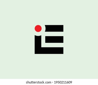letter ie and ei logo design vector template
