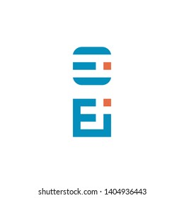 Letter Ei logo. Letter Ei icon.