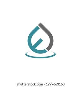 letter EJ drop logodesign