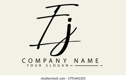 letter EJ  initial logo vector illustration