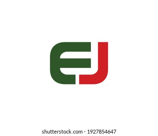 letter ej logo design vector template