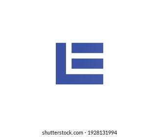 letter el and le logo design vector template