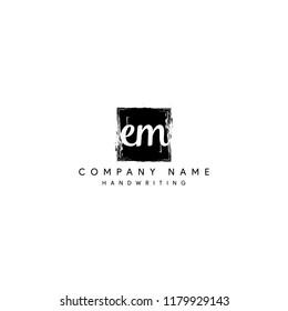 letter EM initial logo