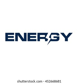 letter energy logo vector.