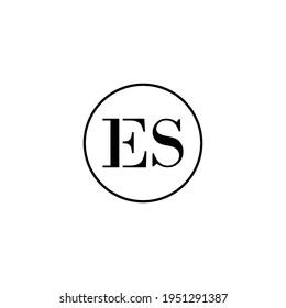 Letter ES initial monogram logo design, wedding, fashion, make up logo template