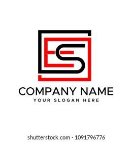 Letter ES logo Design