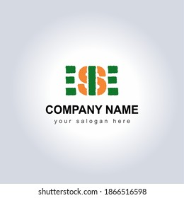 Letter ESE Logo Vector Design Illustration for your Business Identity template. Creative Company Name with slogan brand logo. Unique Letter ESE Logo Icon for monogram . Beautiful Company Logo Idea.