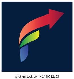 Letter F Arrow Logo Design