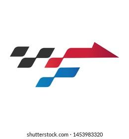 Letter F Arrow Racing Logo Design