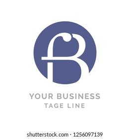 Letter f and B logo design