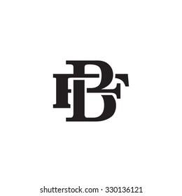 letter F and B monogram logo