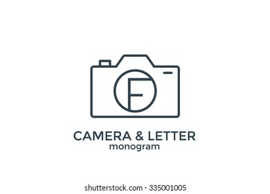 Letter F and camera monogram logo.