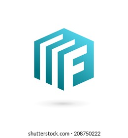 Letter F document logo, icon design template elements. Vector color sign.