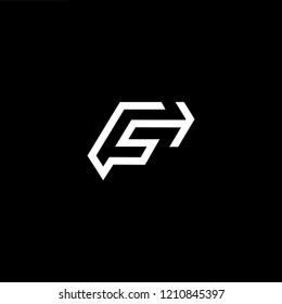 letter F FF minimalist art monogram arrow shape logo, white color on black background