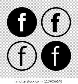 For letter F. Flat web icon or sign isolated on white background.
