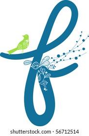 letter f in floral design