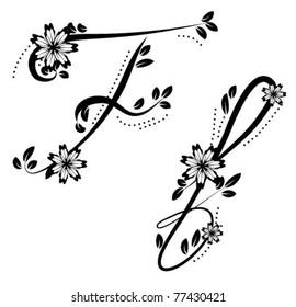 Letter F (floral font)