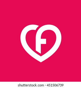 F love images stock photos vectors shutterstock letter f heart logo icon design template elements thecheapjerseys Image collections