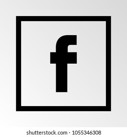 Letter F icon. Social media icon. Vector illustration