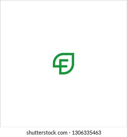 Letter F Initial natural vector logo template