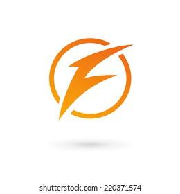 Letter F lightning logo icon
