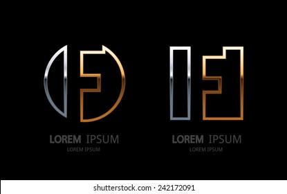 Letter F logo. Alphabet logotype vector design.