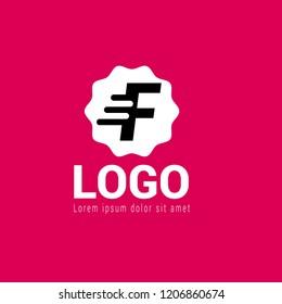 letter F logo concept