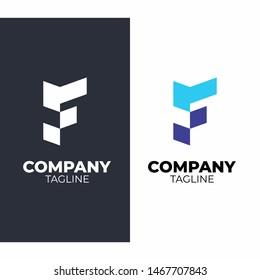 Letter F -Logo Design Concept Modern Stock Vector