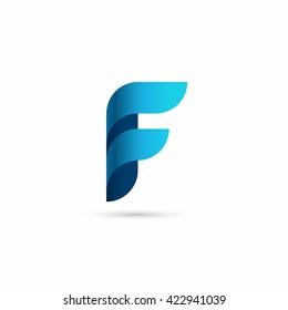 letter F logo design template