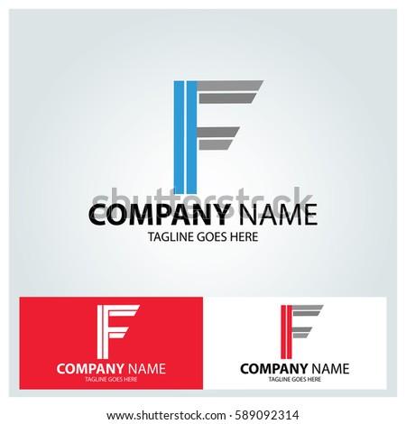 letter f logo design template vector stock vector royalty free