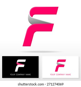 Letter F logo icon design template elements - Illustration. Letter F logo icon design - vector sign. Business card templates