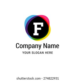 Letter F logo icon design | alphabet letter | Stylish Colorful typographic template elements | shiny icon template | corporate identity