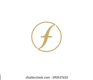 Letter F logo icon design template .  Luxury monogram for hotel, restaurant, boutique shop, fashion store .