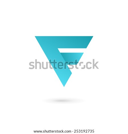 letter f logo icon design template stock vector royalty free