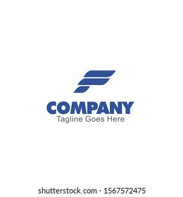the letter f logo in the shape of three arrows. defines speed and progress, professional logo template. for logistics or transportation companies.