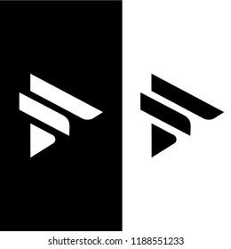 letter F logo template design, fashion logo