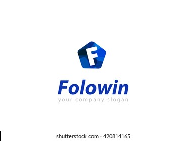 letter F logo Template for your company